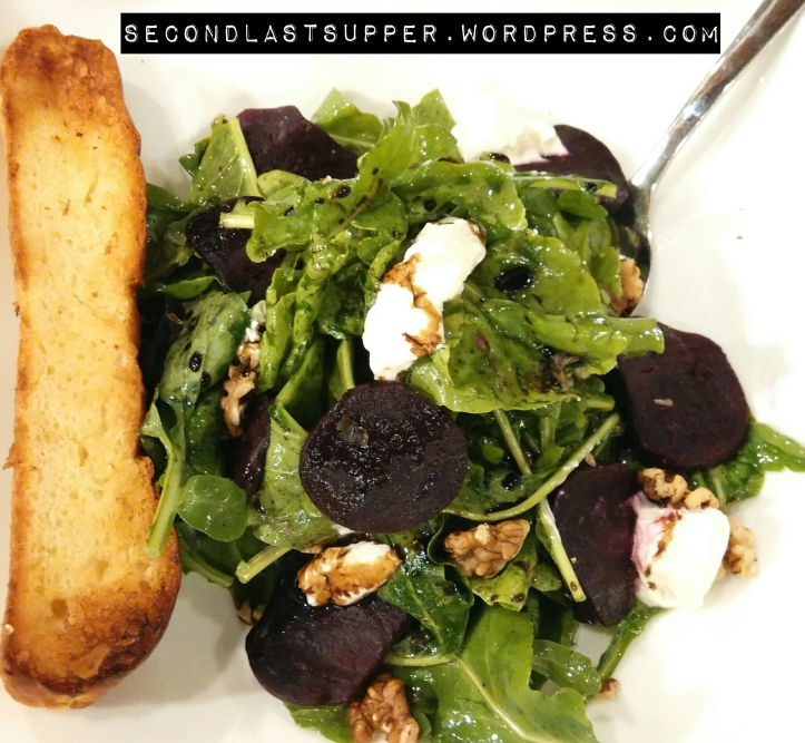 Beetroot Goat-cheese salad