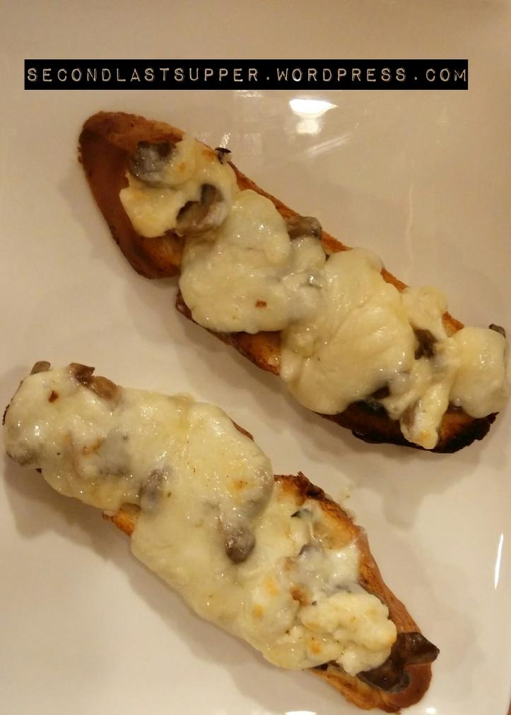 Mushroom & Cheese Bruchetta
