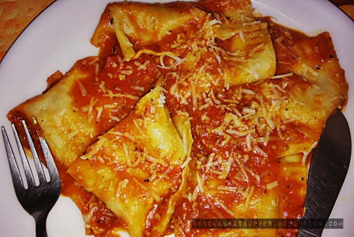Ravioli Al-Pomodoro with Pumpkin Cheese