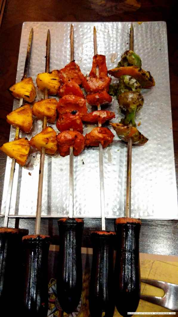 Narangi-ananas ki chaat (on left) and more...