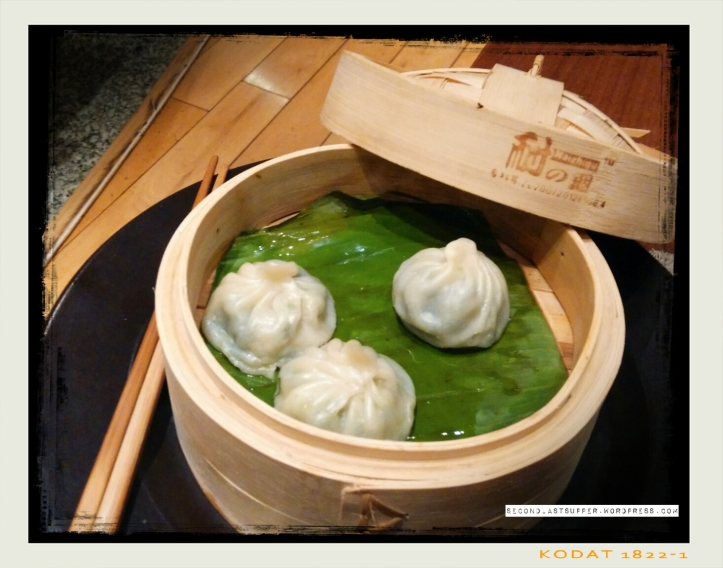 Pokchoy & waterchestnut Dumplings- japan (green leaves and water chestnuts in raw garlic)
