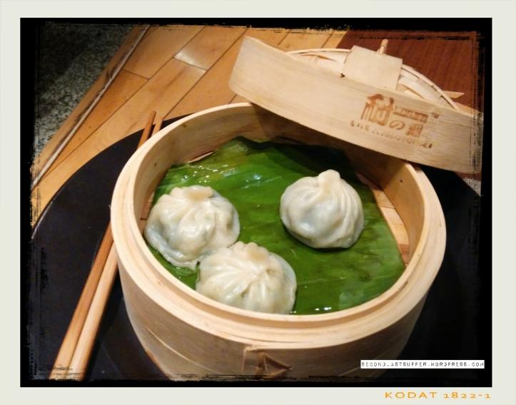Pokchoy & waterchestnut Dumplings- japan (green leaves and water chestnuts in raw garlic)