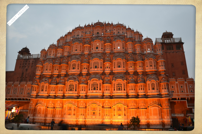 Hawa-Mahal around evening
