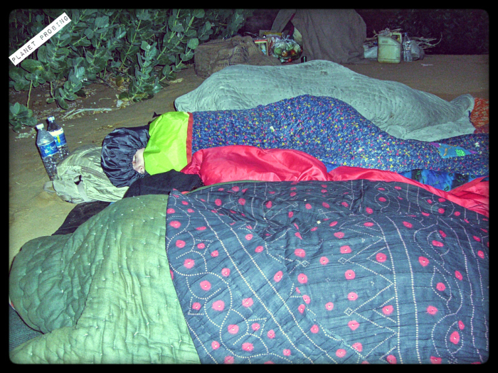 Freezing cold here, we all used 2 quilts each to comfort us.