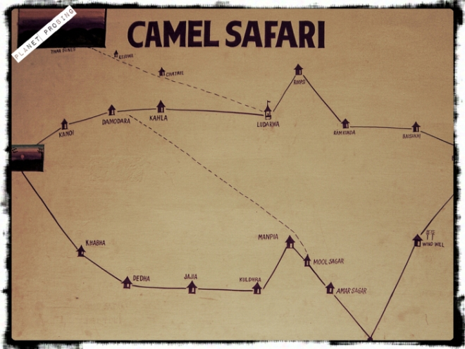 One of the routes for safari