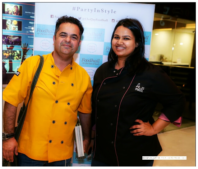 Chef Vicky Ratnani with Chef Pooja Dhingra