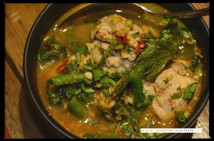 Aksa Meh- Chicken curry with seasonal herbs (Mizoram)
