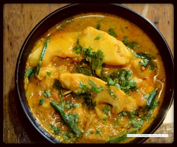 Aloo Taama- Potato & bamboo shoot curry (Sikkim)
