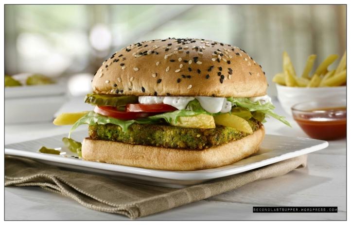 Greek Falafel Burger