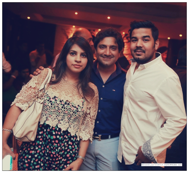 Veenu Arora, Richi Arora with the owner Prashant Karan