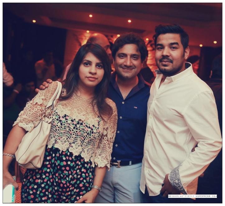 Veenu Arora, Richi Arora with the owner Prashant Karan