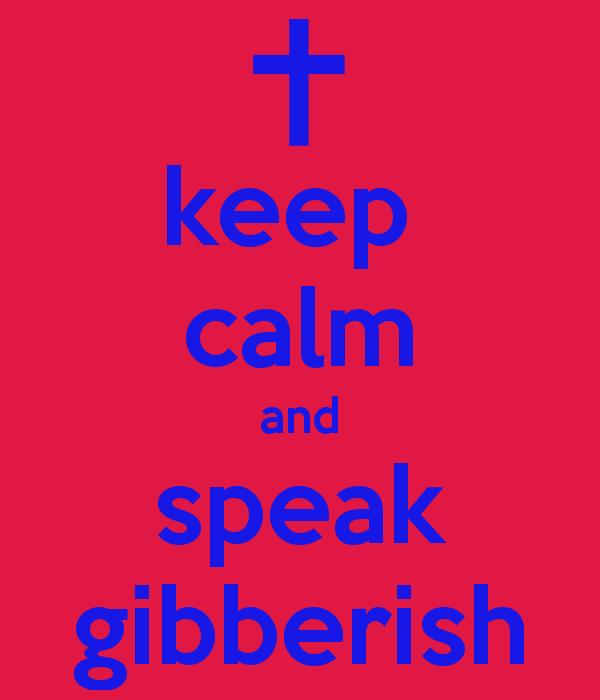 gibberish ideas and blocked heads