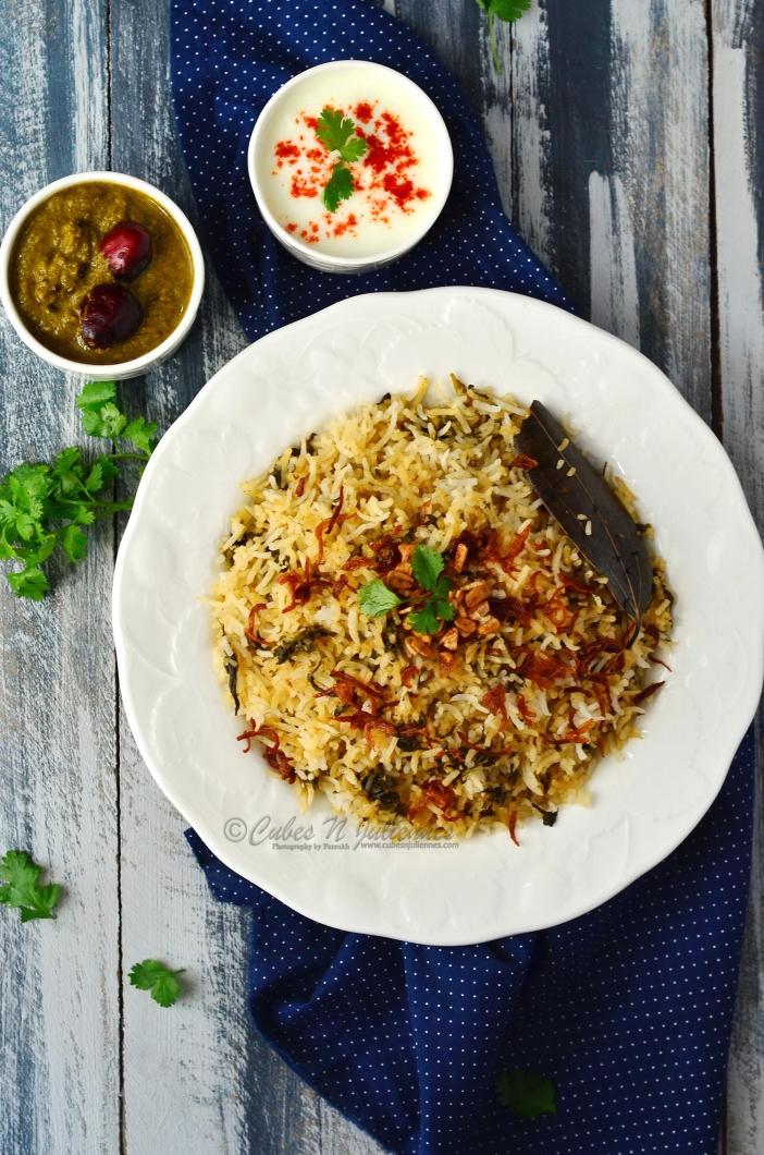 1-Afghani style spinach fenugreek pilaf