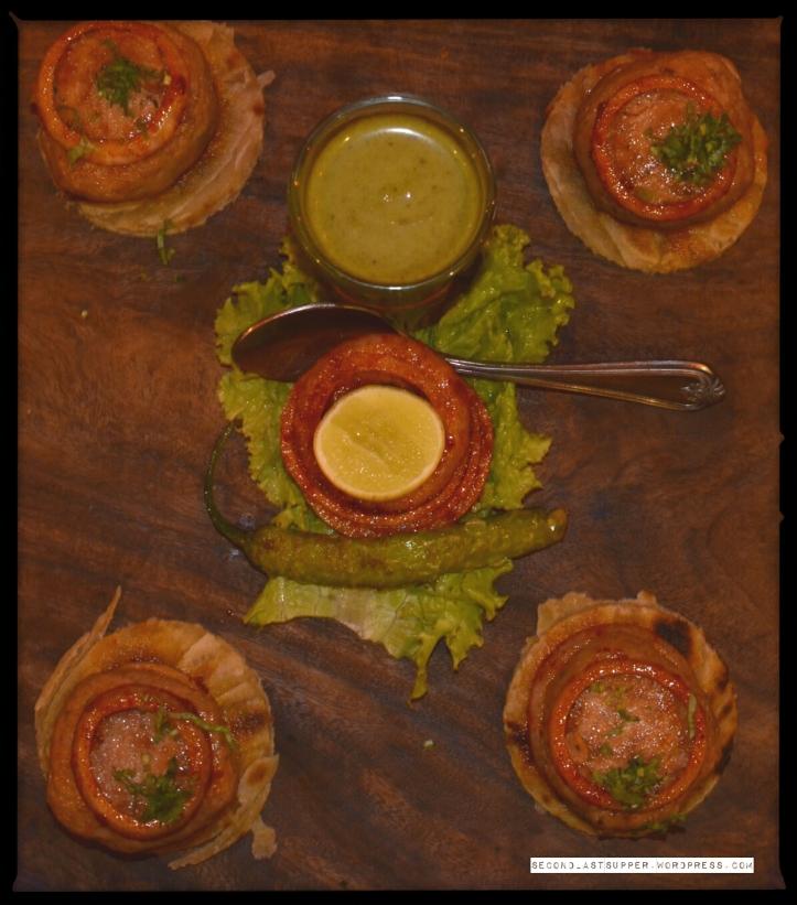 Galawti mutton with ulte tawe ke parathe