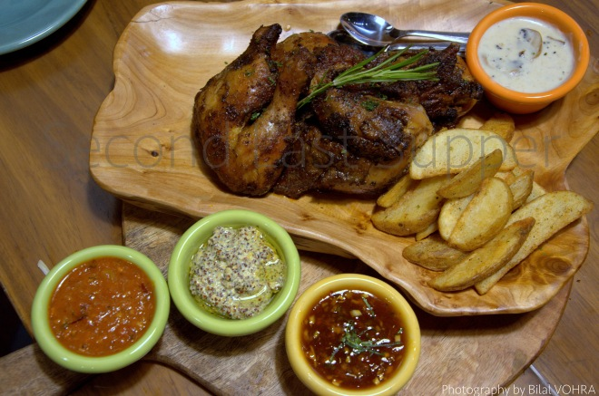 Spit Roast Chicken (whole) with 4 sauces