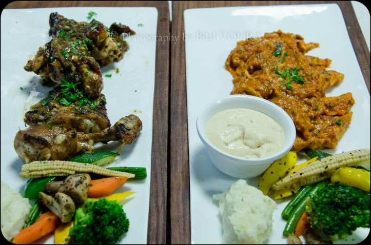 Moroccan grilled chicken & Herb roasted chicken