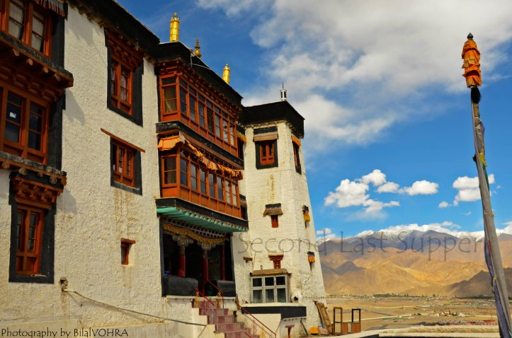 A side of Spituk Gompa