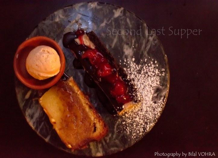 Clockwise from left- Nolen Gur icecream,milk chocolate and cherry cheesecake and orange pound cake