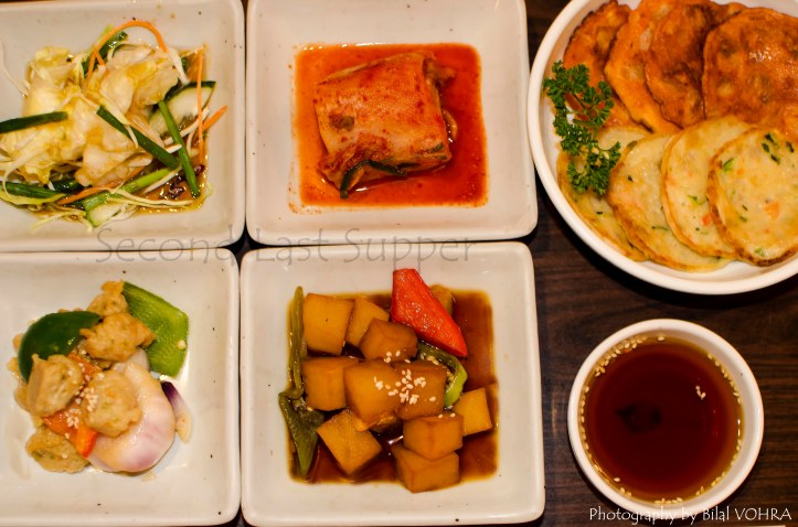 Complimentry starters before the meal (these are just half)
