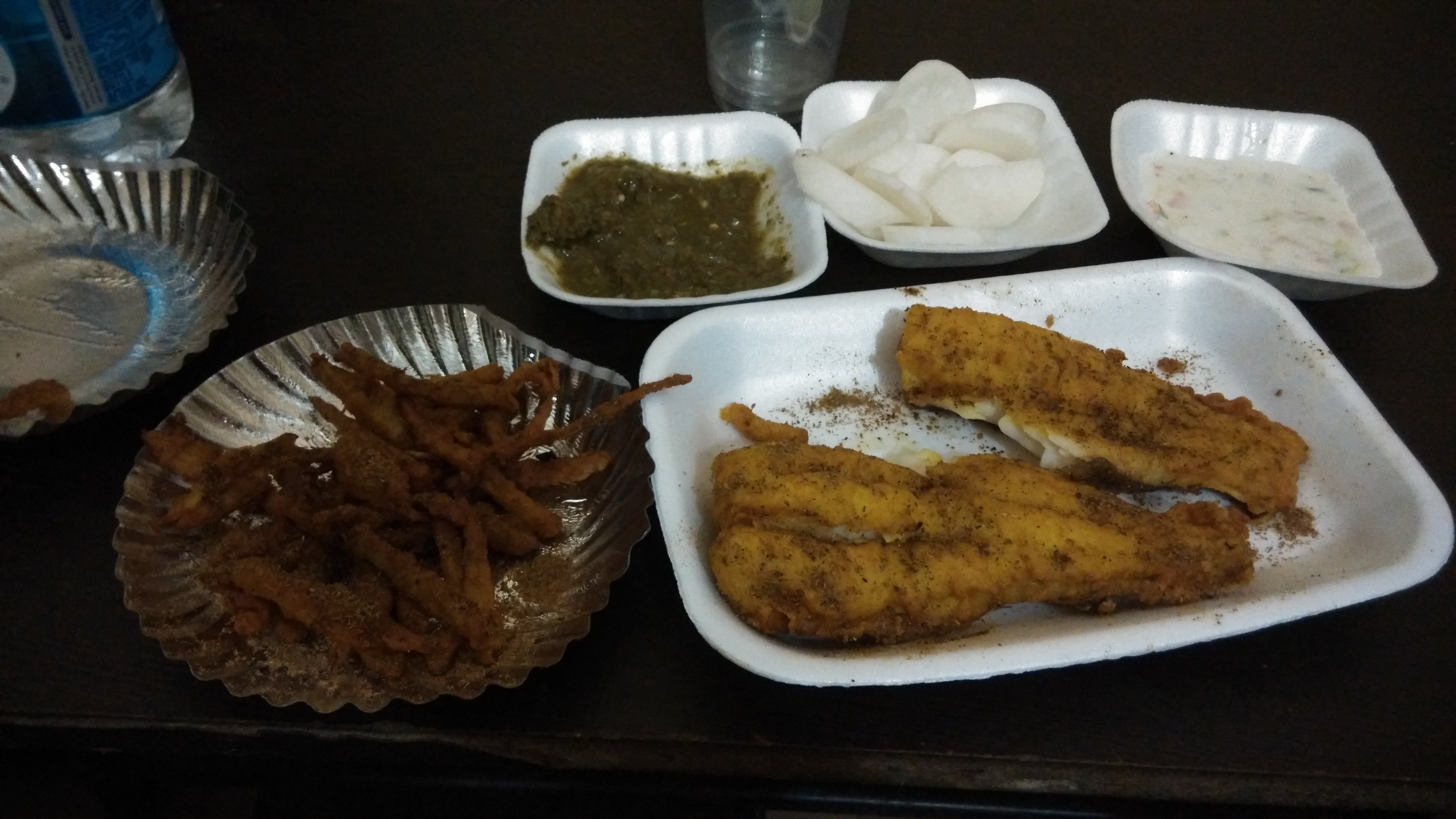 fish fry with adrak fry