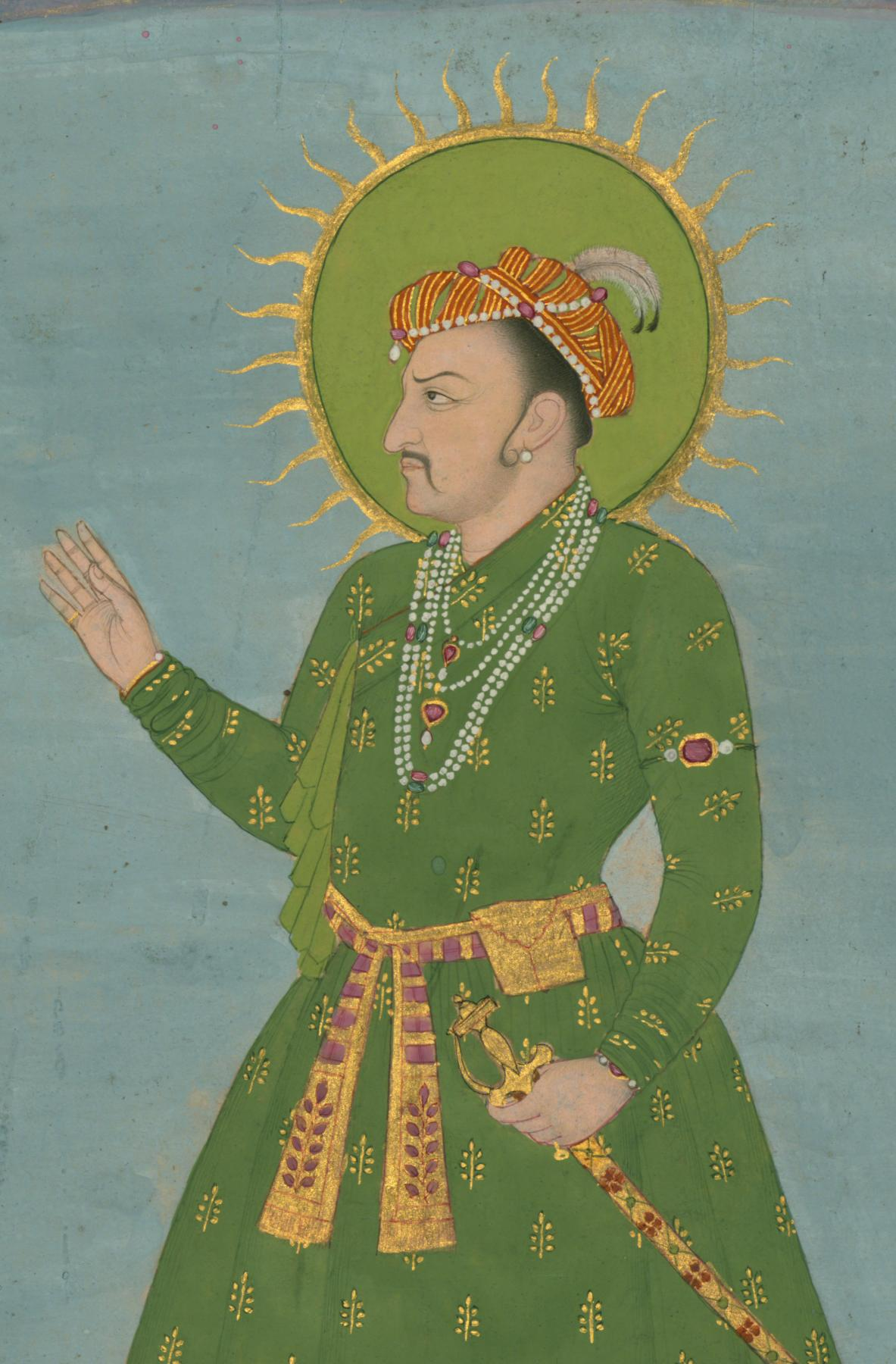 Indian_-_Single_Leaf_of_a_Portrait_of_the_Emperor_Jahangir_-_Walters_W705_-_Detail