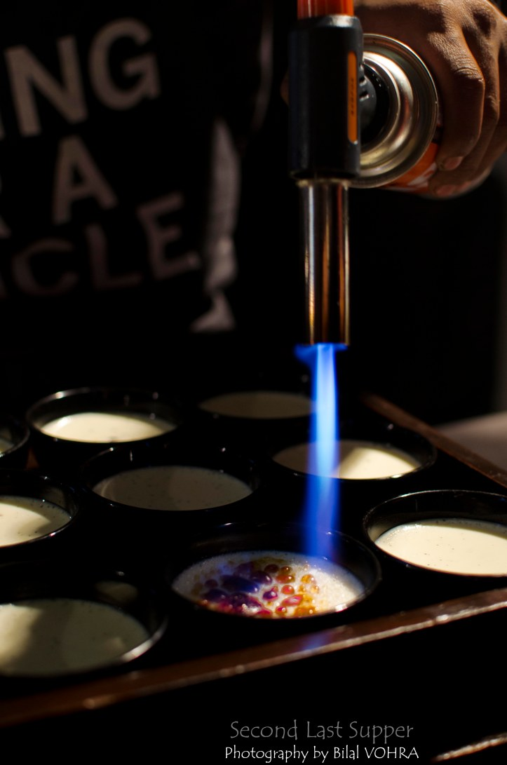 Brulee being torched 2