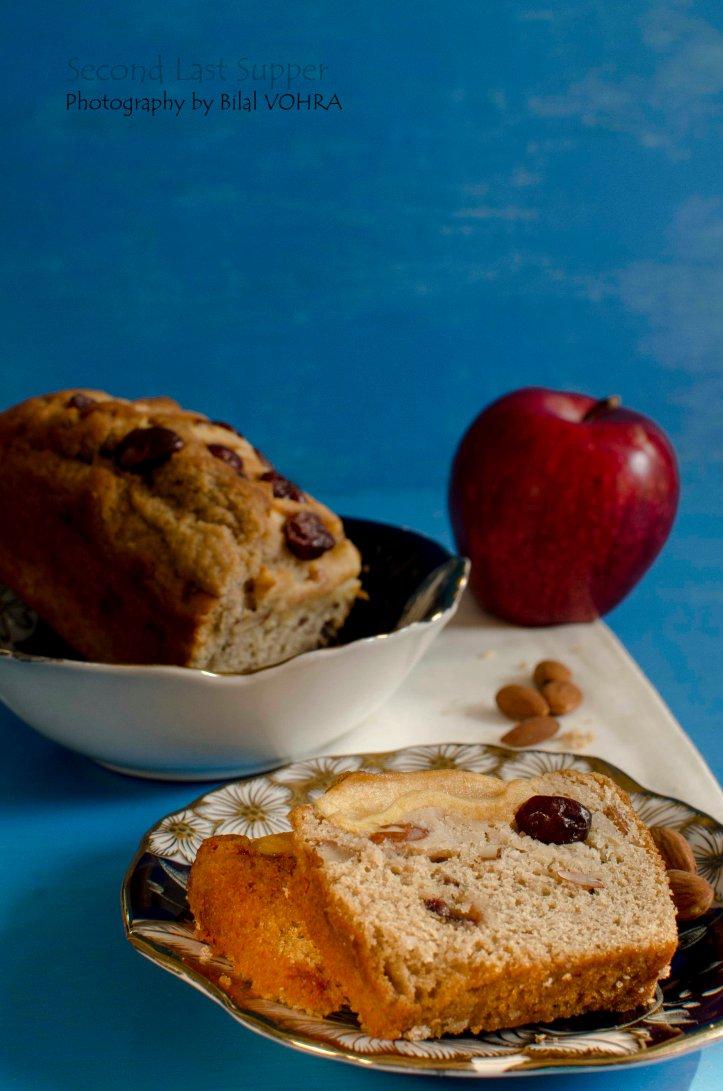 Apple Cranberry Almond cake