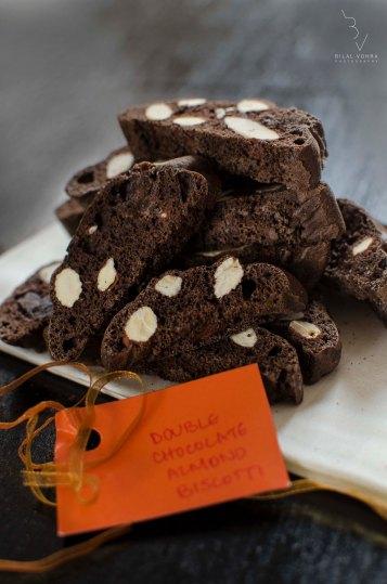 Double Chocolate Almond Biscotti